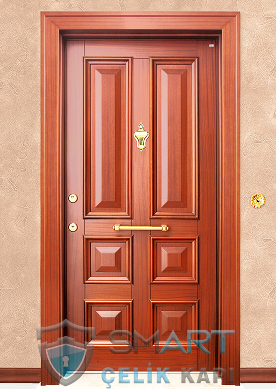 Ahşap Kaplama Lüks Çelik Kapı Thor