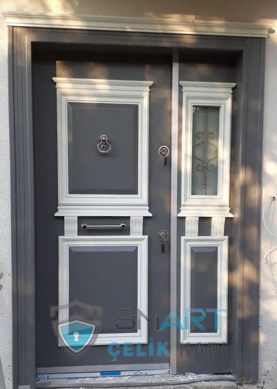 Ahşap Kaplama Camlı Villa Giriş Kapısı SVK-033