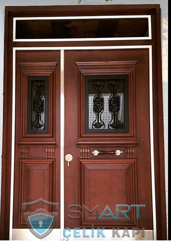 Villa Kapısı Modelleri Ahşap Kaplama Aria