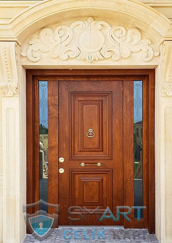 Villa Kapısı Dış Mekan Çelik Kapı Ölçüye Özel Üretim VK-050